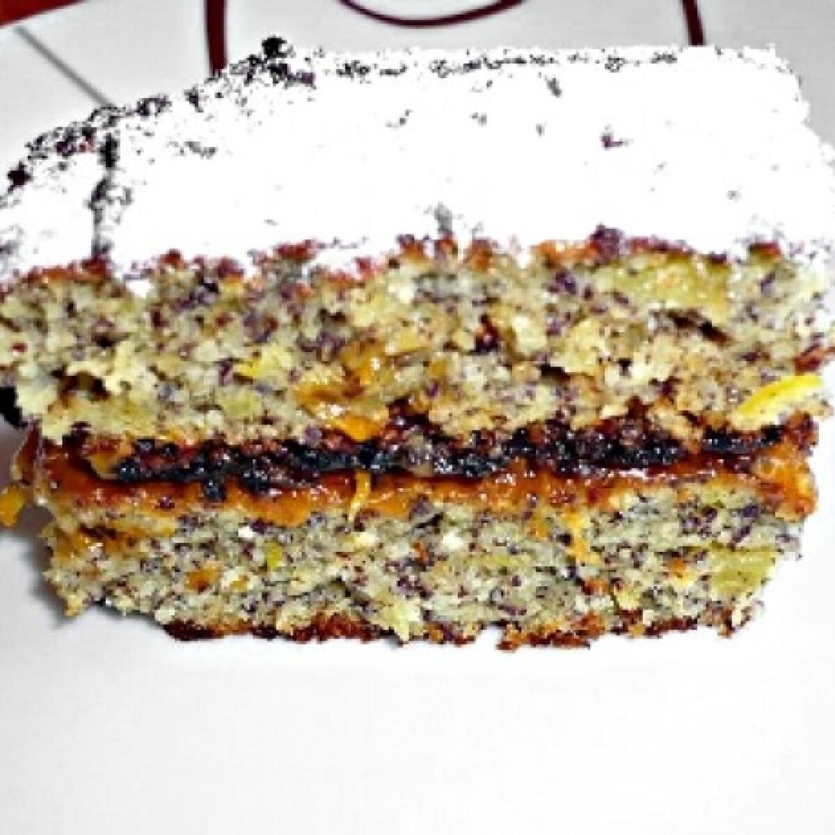 Ezen a képen: Krumplis-mákos sütemény