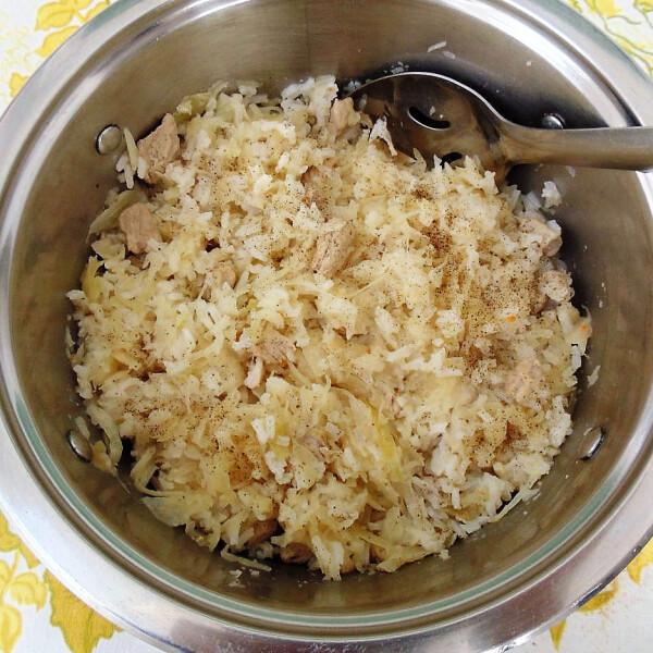 Káposztás rizses hús