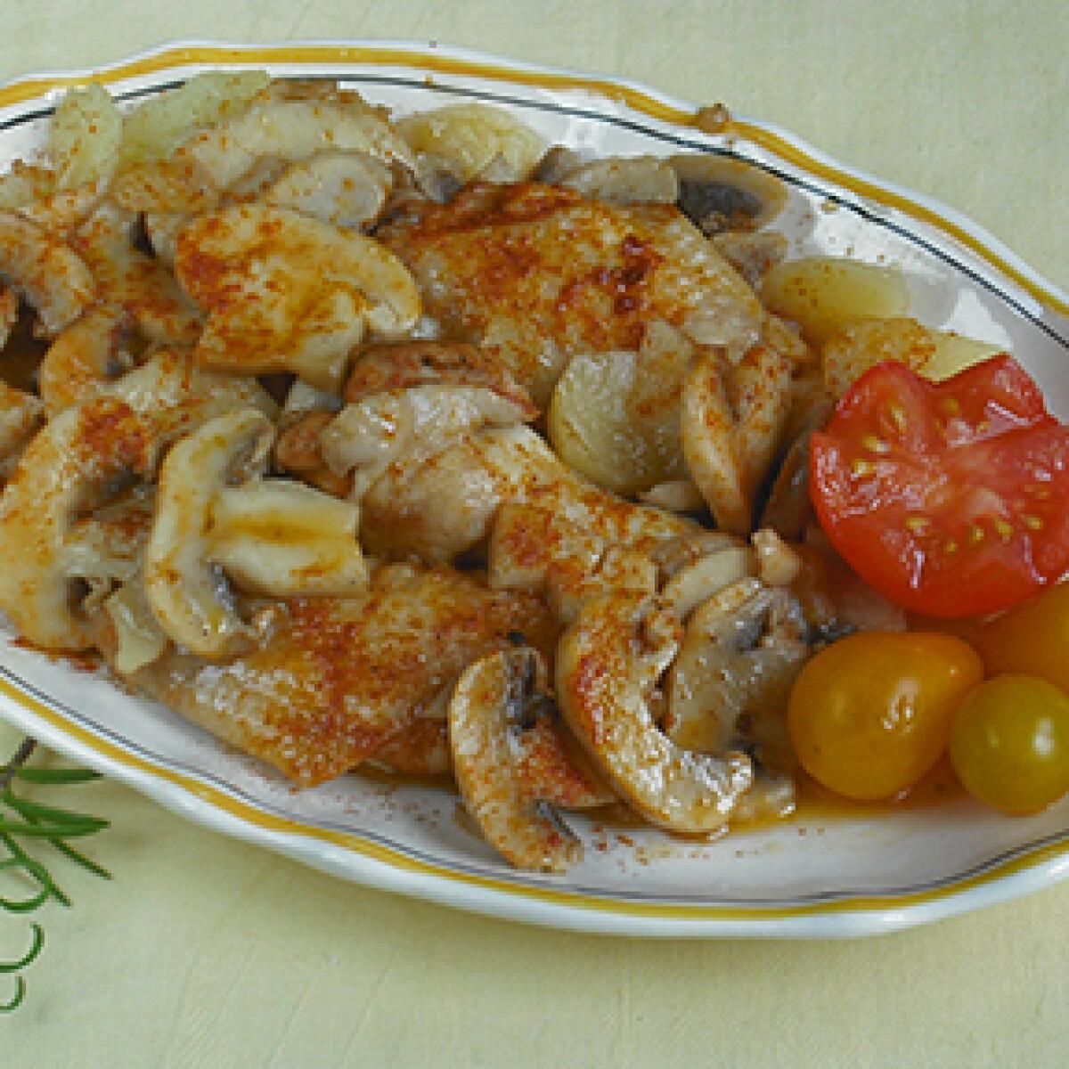 Ezen a képen: Gombás rakott csirke Csiki Piroskától