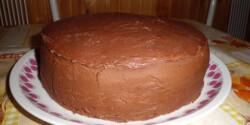 Trüffel krémes torta ganache bevonattal