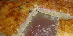Fokhagymás-tejfölös pizza Anettől