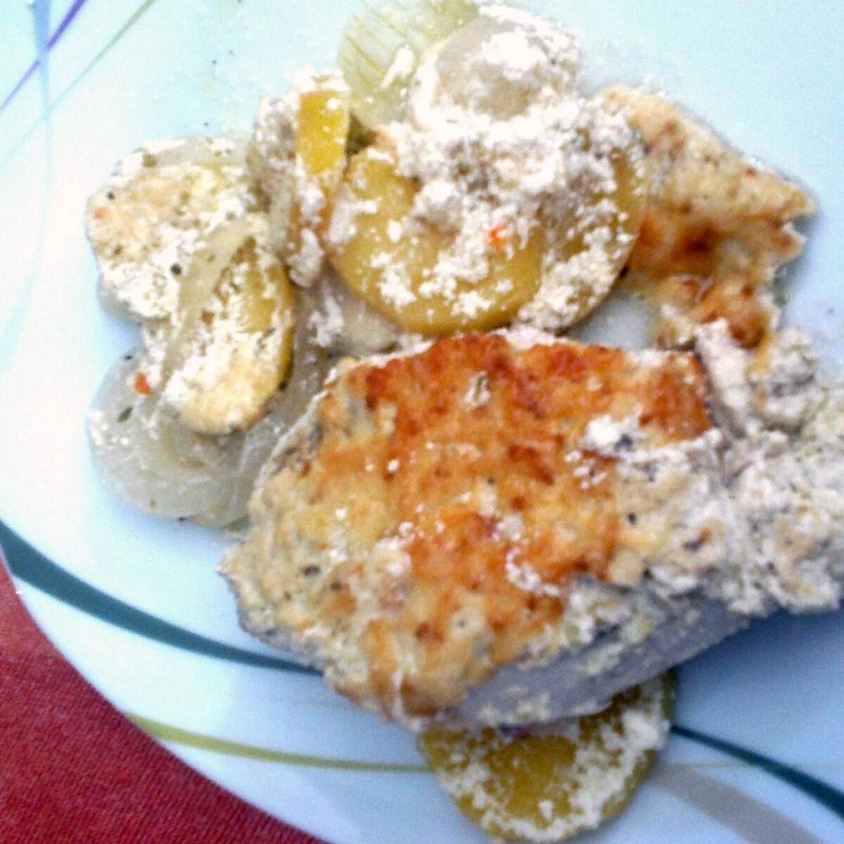 Tejfölös-mustáros csirke