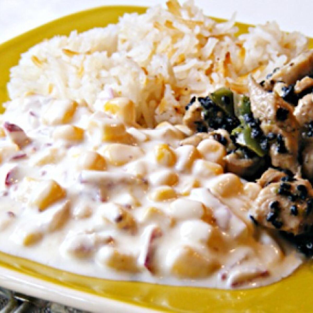 Ezen a képen: Joghurtos kukoricasaláta