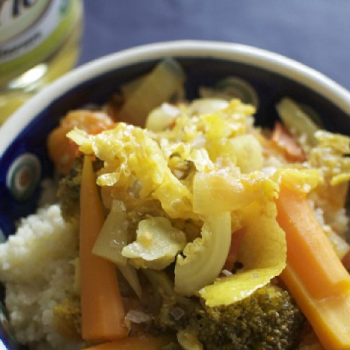 Citromos zöldségragu kuszkusszal
