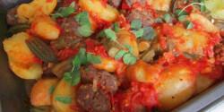 Okrás-paradicsomos húsgolyók