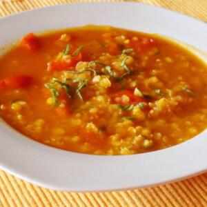 Vöröslencse leves Glaser konyhájából