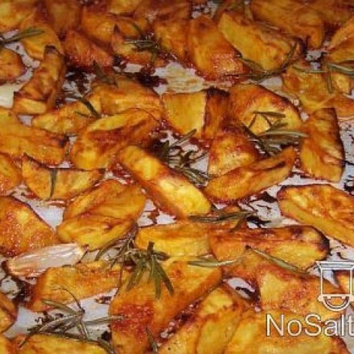 Ezen a képen: Sütőben sült ketchupos burgonya