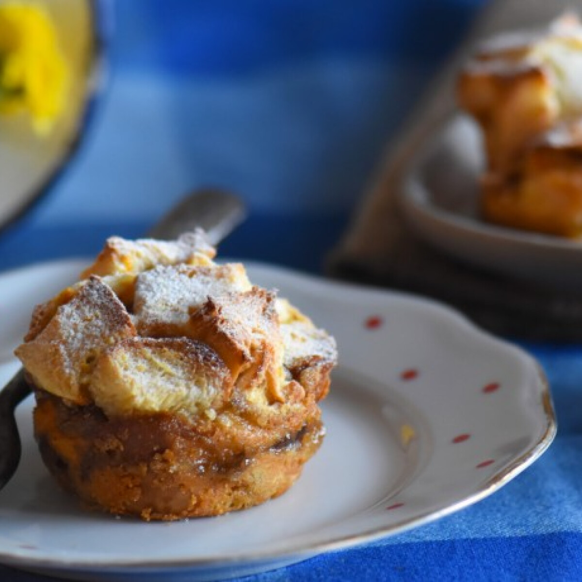 Kalácsfelfújt muffinformában