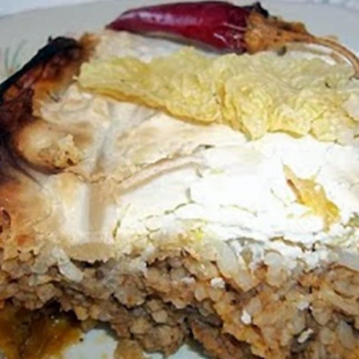 Ezen a képen: Tejfölös rakott kelkáposzta a sütőből