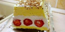 Mascarponés-epres habkönnyű desszert