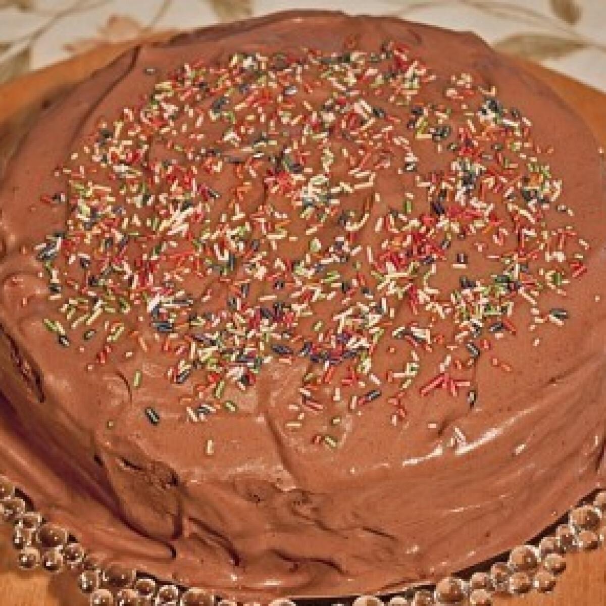 Lúdláb torta 3. - mogyorós tésztájú