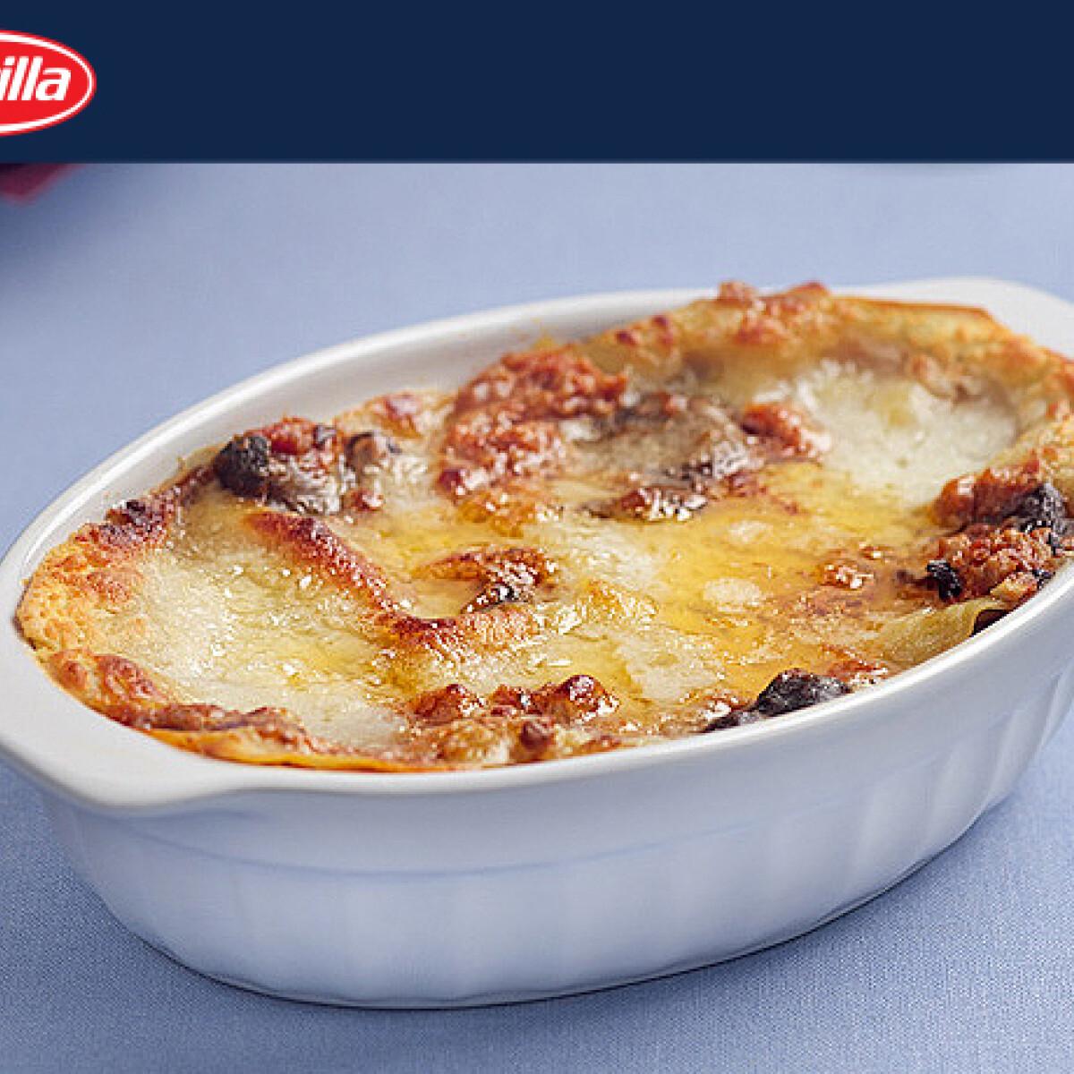 Ezen a képen: Lasagne prosciuttoval és gombával