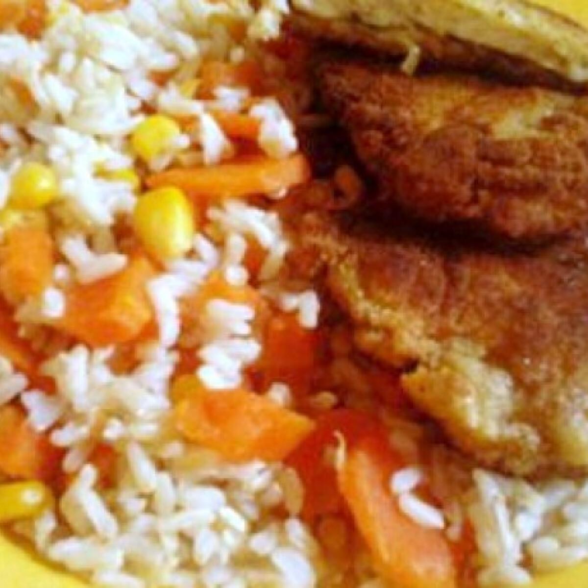 Ezen a képen: Petrezselymes-hagymás rántott csirke