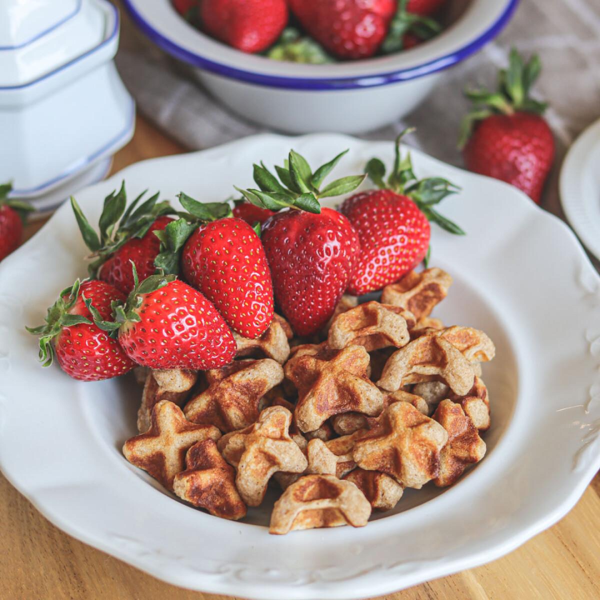 Mini fahéjas reggeli gofrik