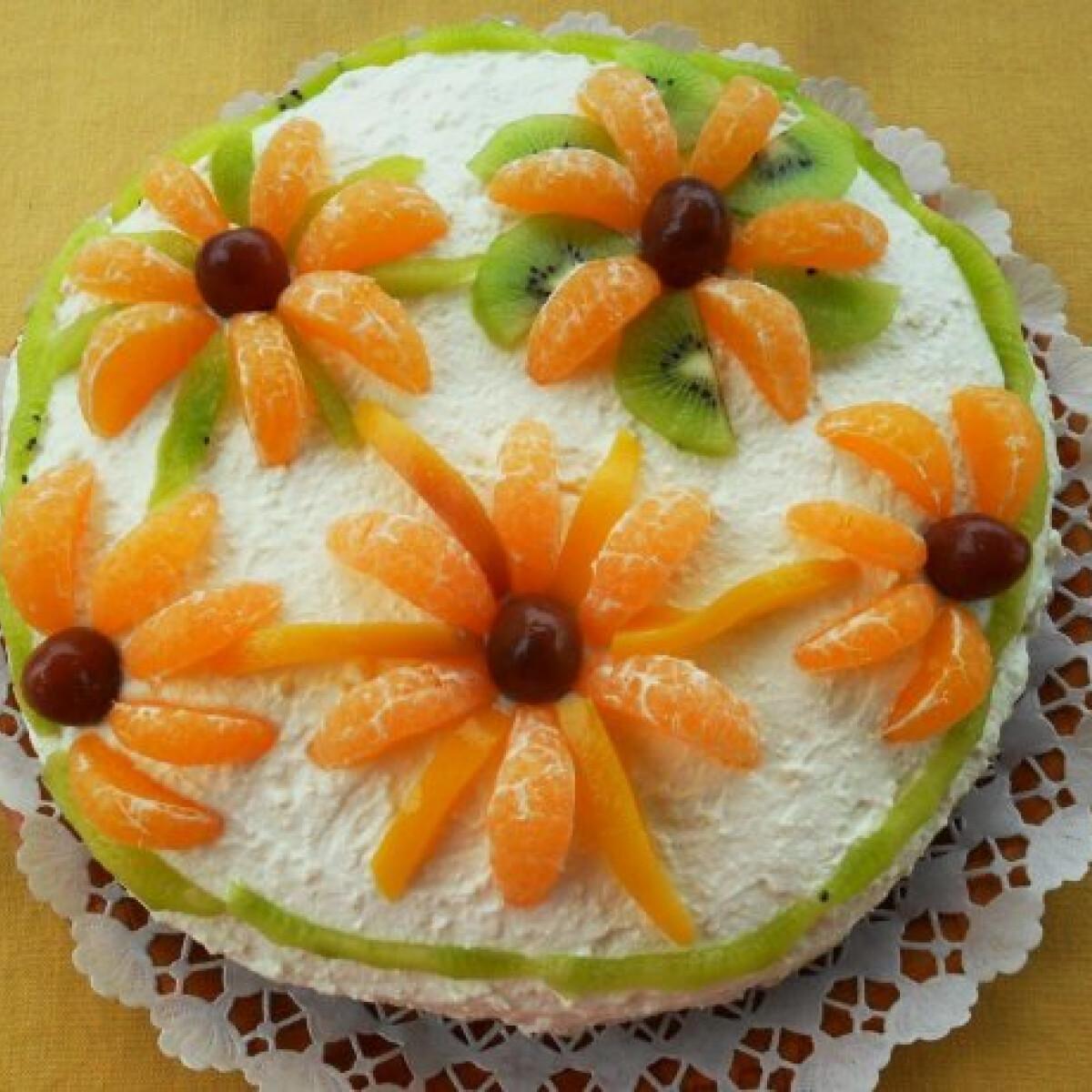 Ezen a képen: Almás-túrós torta