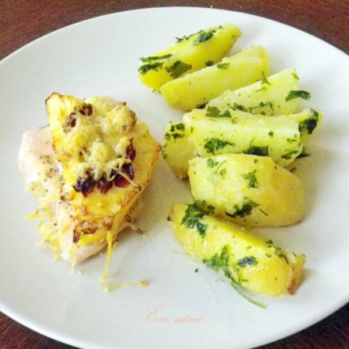 Ezen a képen: Csirkemell ananásszal és áfonyával
