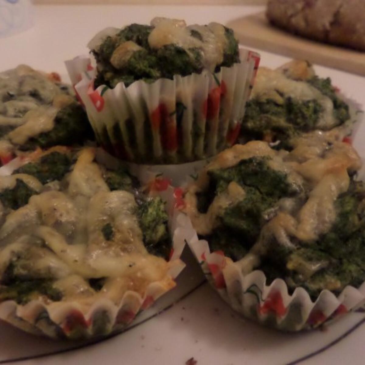 CH szegény spenótos muffin
