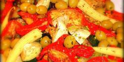 Grillezett mediterrán zöldségtál
