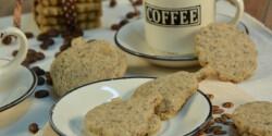 Kávés-mandulás keksz