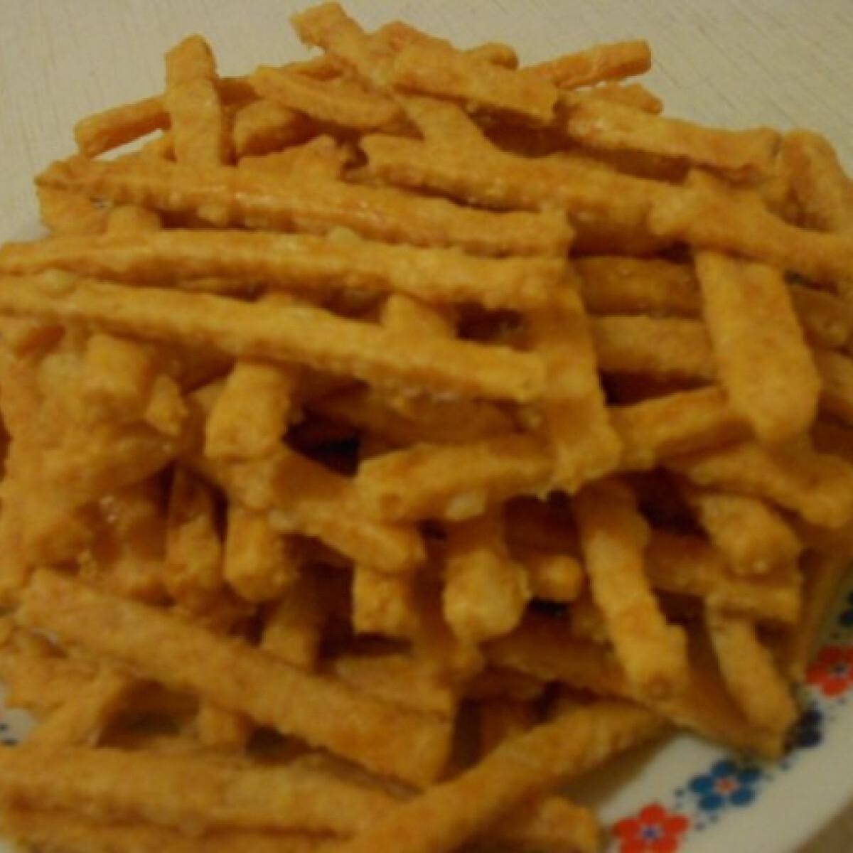 Ezen a képen: Sós-sajtos rúd Katrin konyhájából