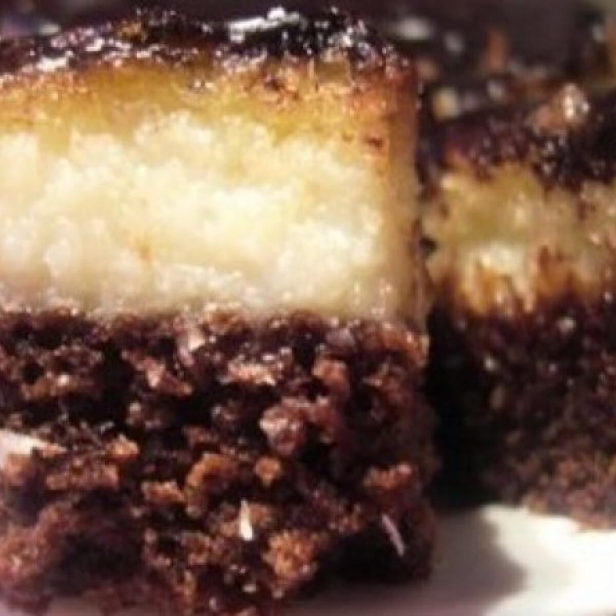 Kókuszkrémes-kakaós süti 2.