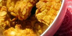 Kukoricapelyhes ropogós csirkemellfalatok