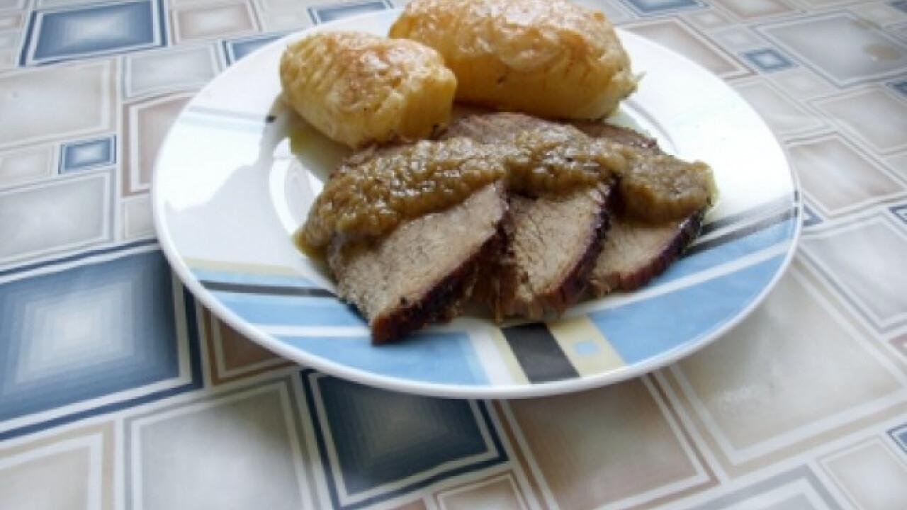 Roast beef sajtos burgonyával