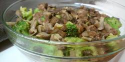 Erdei gomba brokkolival és szívvel