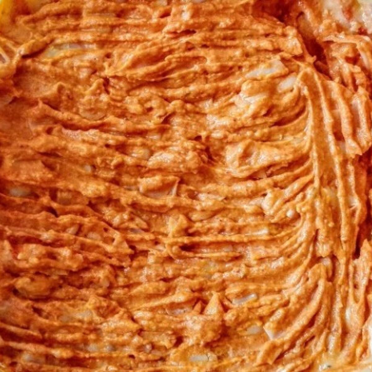 Csípős-fűszeres fehérbab-hummusz