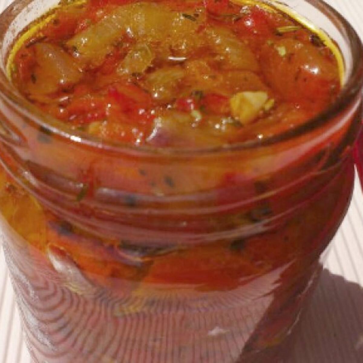 Ezen a képen: Sült paprika krém
