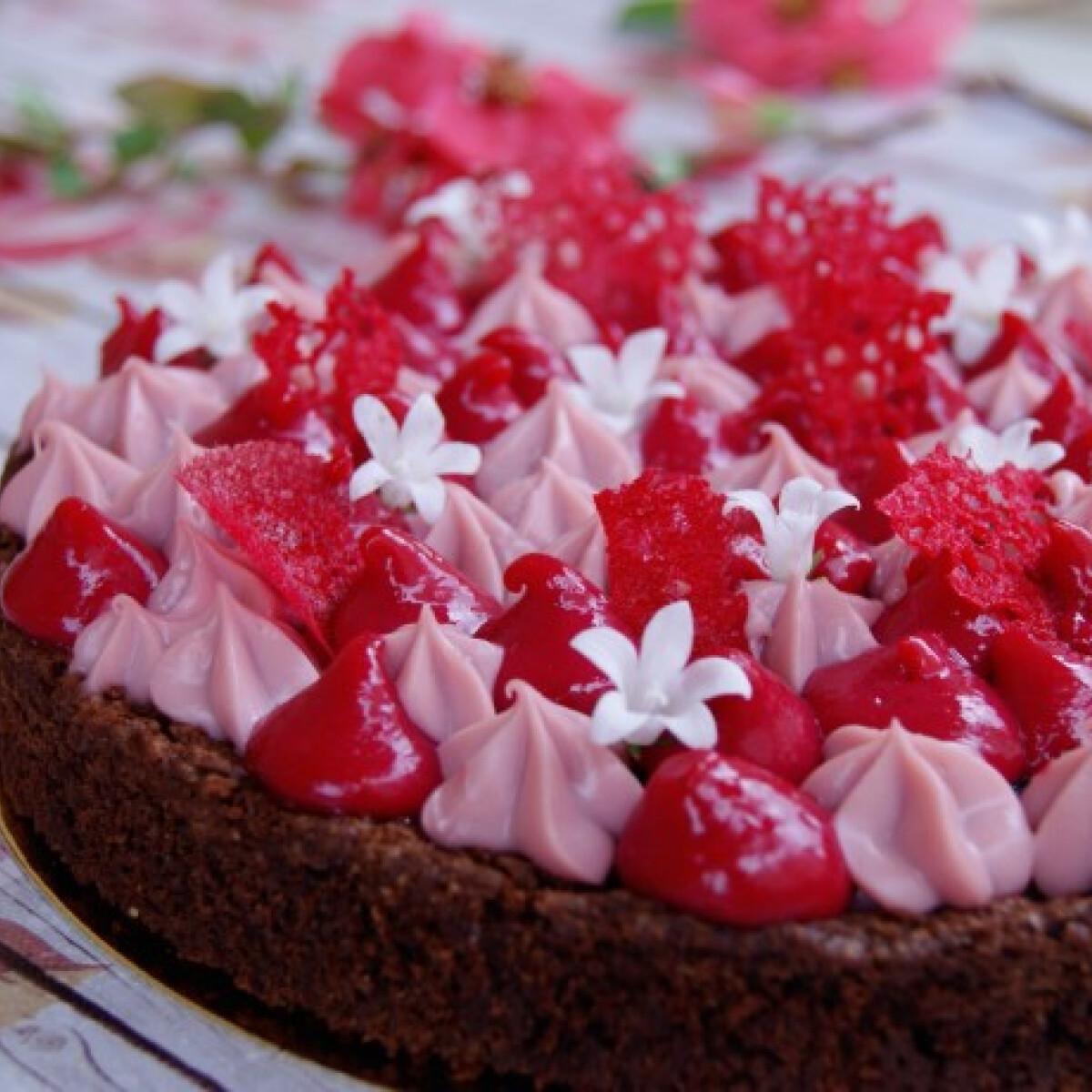 Alekszej desszert - ribizli, ruby, étcsokoládé