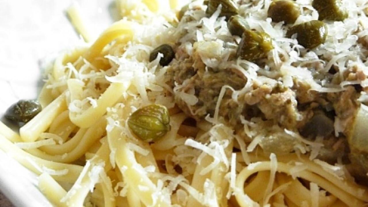 Pikáns szardíniás spagetti