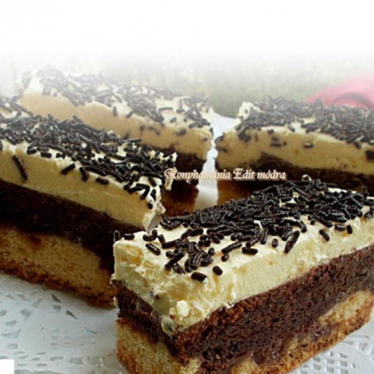 Vaníliás-csokis-diós szelet