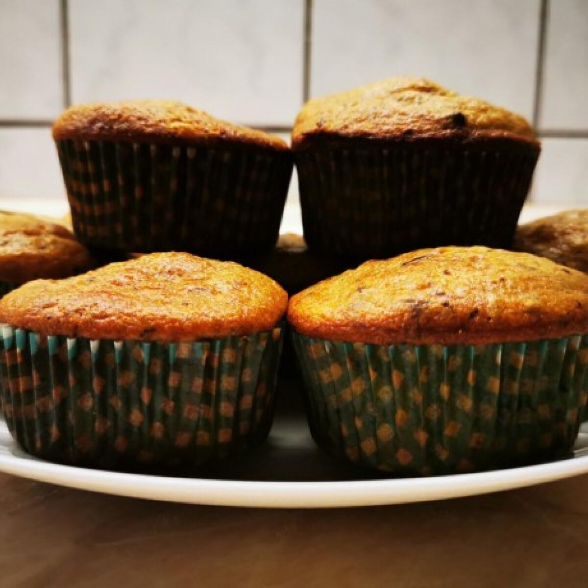 Ezen a képen: Étcsokis-levendulás muffin