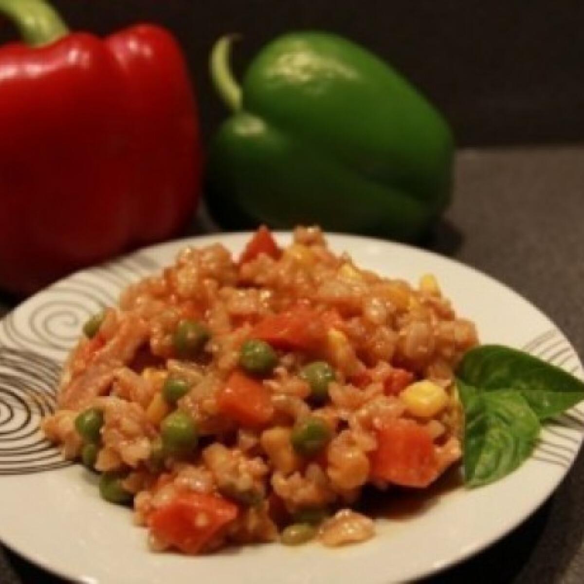 Ezen a képen: Mexikói rizseshús