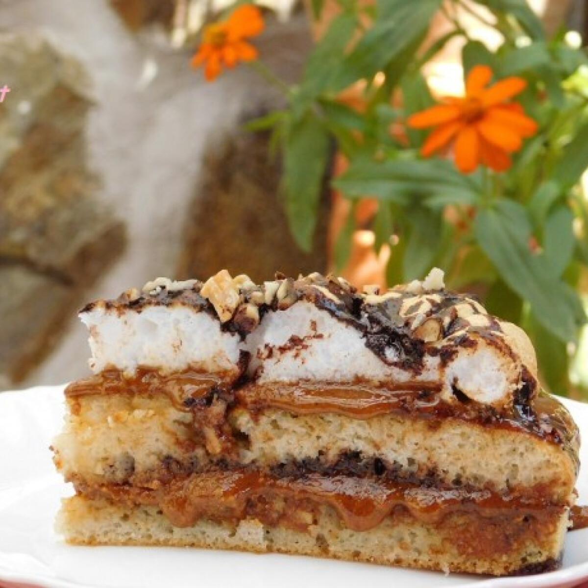 Glutén- és cukormentes grillázskrémes torta