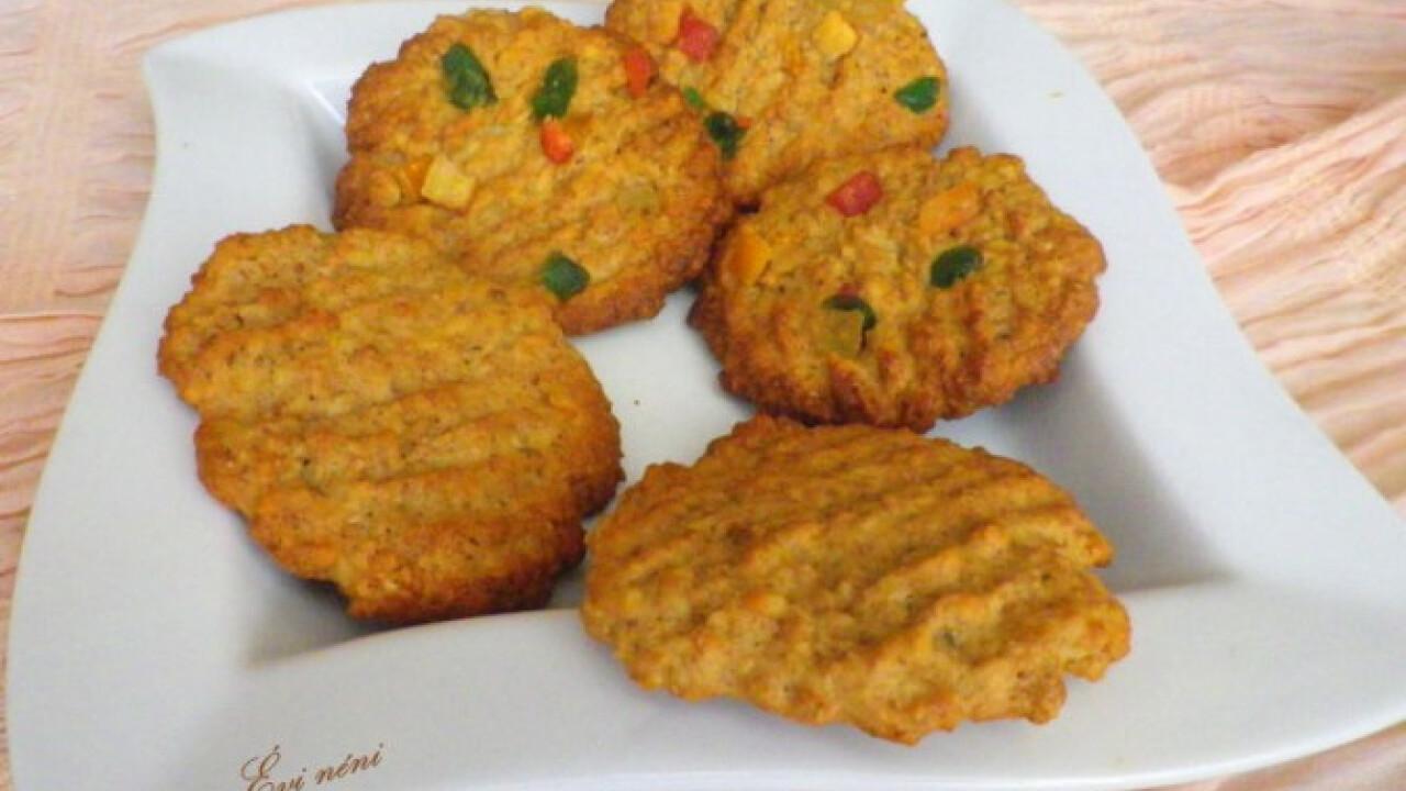 Narancsos-diós-zabpelyhes keksz