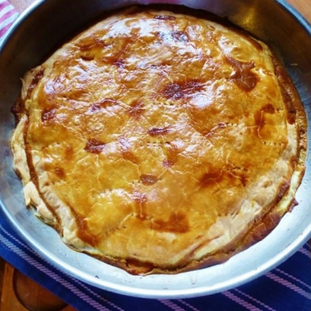Ezen a képen: Karottás-póréhagymás csirkefilés tarte tatin