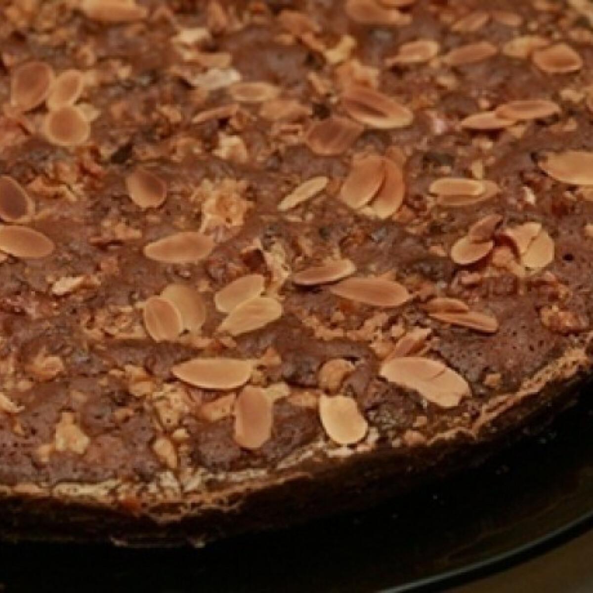 Ezen a képen: Csokoládés diószelet