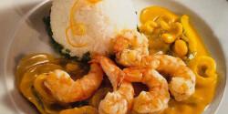Curry szószos scampi