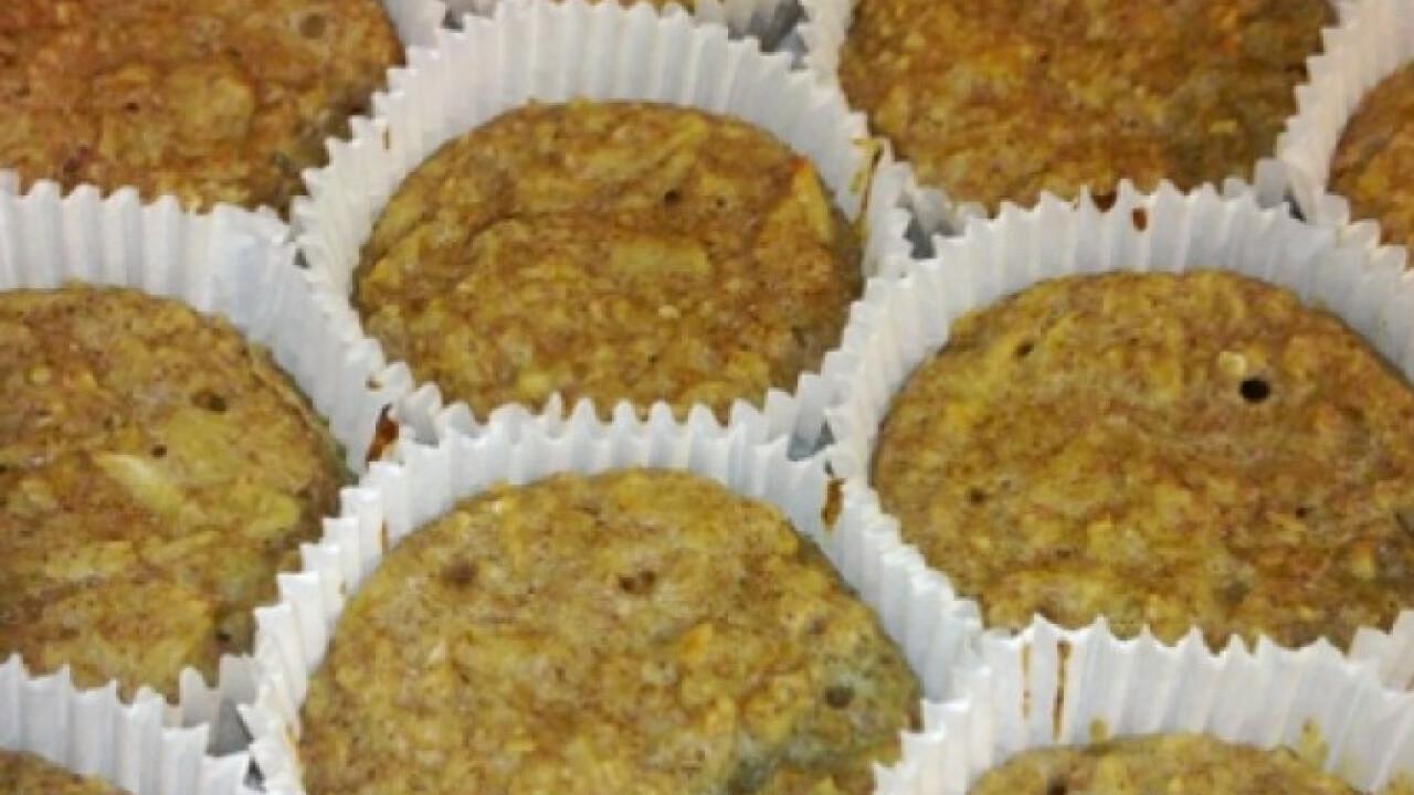 Cukormentes almás-fahéjas muffin