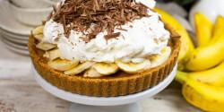 Banoffee pite, azaz karamellás-banános habos pite