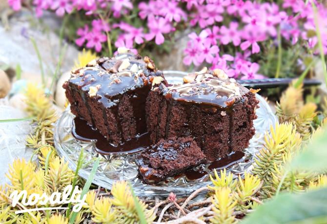 Ezen a képen: Mennyei csokoládészószos-kakaós kocka