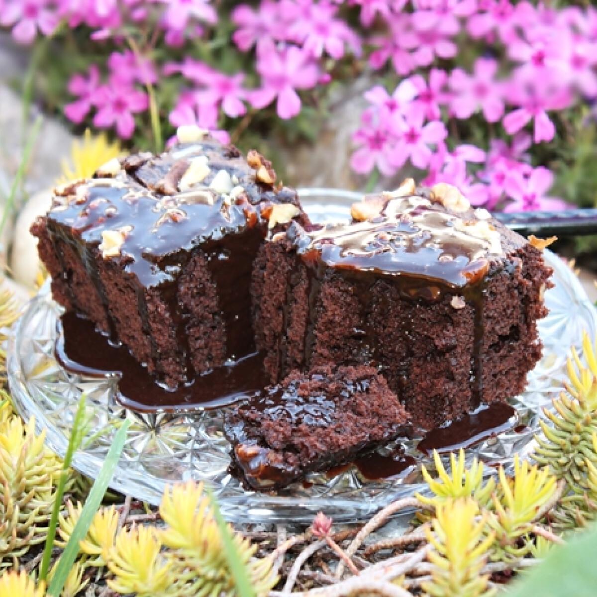Mennyei csokoládészószos-kakaós kocka