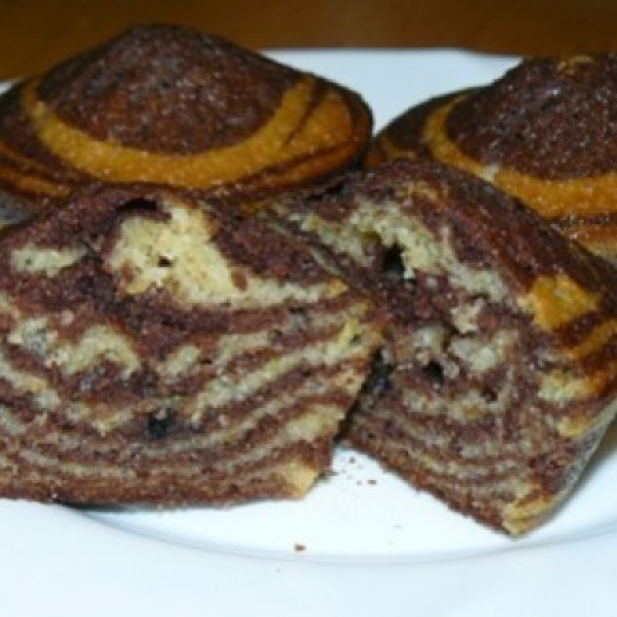 Ezen a képen: Zebra muffin