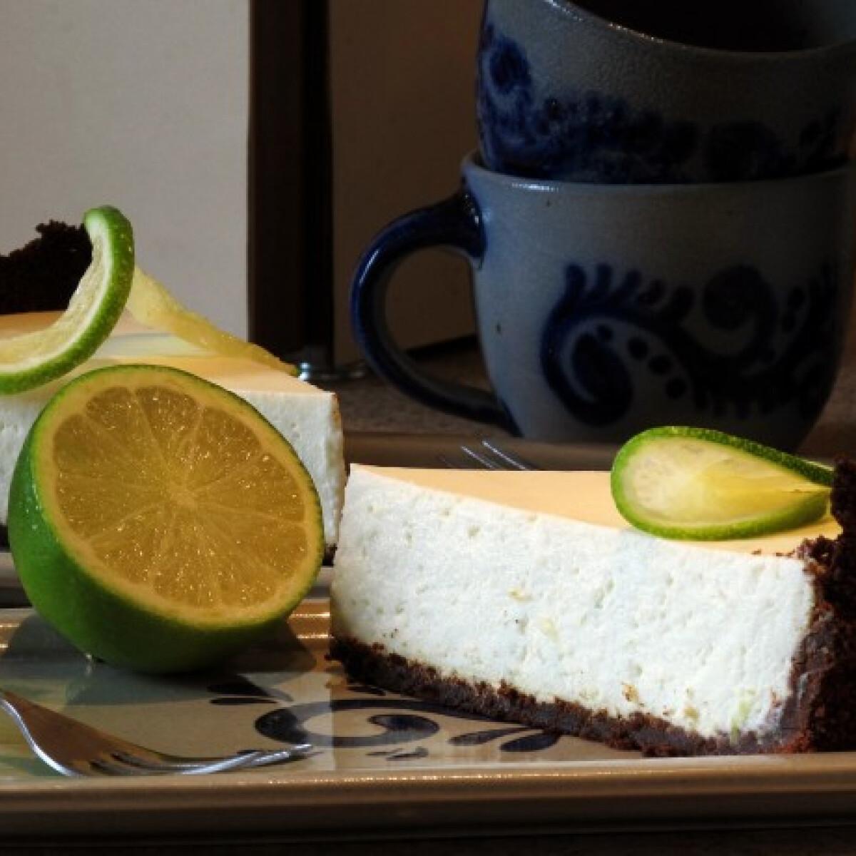 Ezen a képen: Lime-os cheesecake