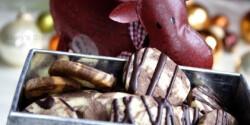Kakaós-marcipános márványkorongok