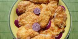 Csirkemell sonkás sajtmártással