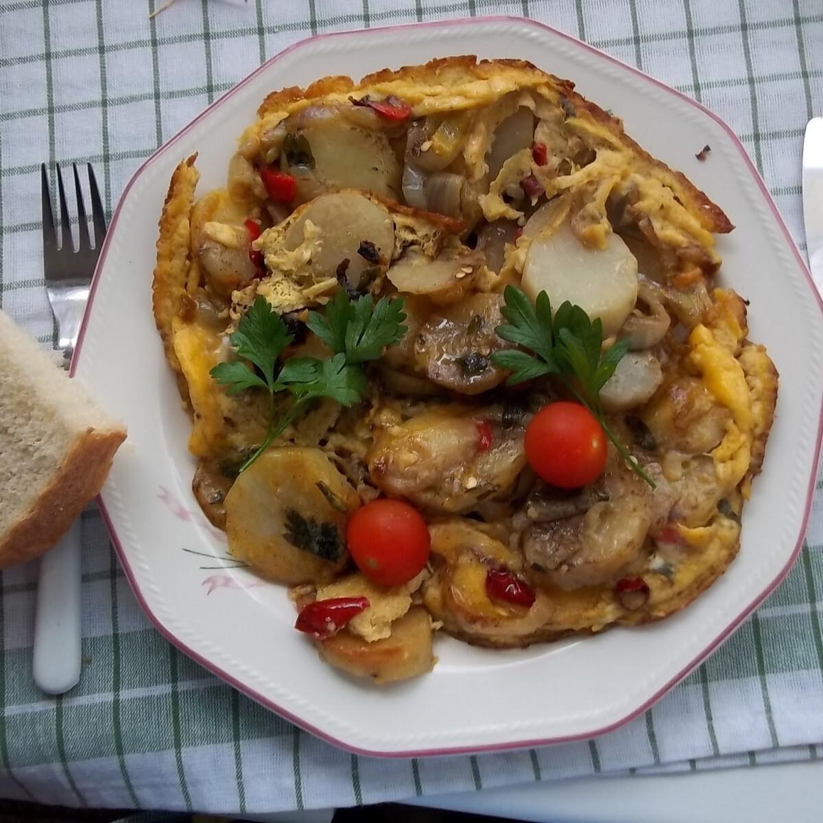 Ezen a képen: Tortilla de patatas