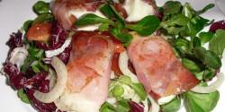 Mozzarella pármai sonka köntösben